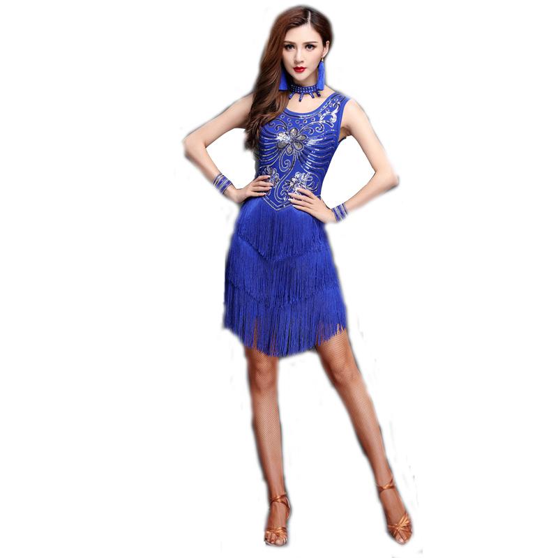 8b1b235ca Catálogo de fabricantes de Con Flecos Vestidos De Baile Latino de alta  calidad y Con Flecos Vestidos De Baile Latino en Alibaba.com