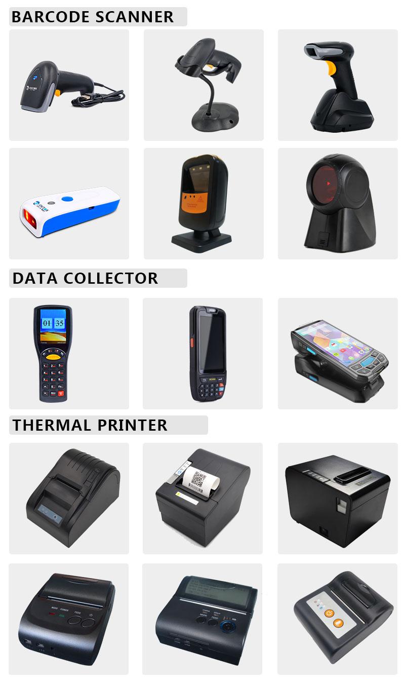 Handheld wired 1D laser POS bar code scanner