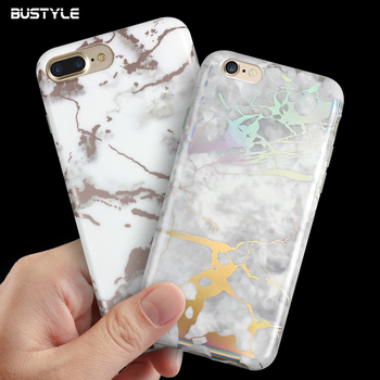 IMD Marble Manufacture Cell Phone Cases For Iphone 8 Silicone Mobile Covers