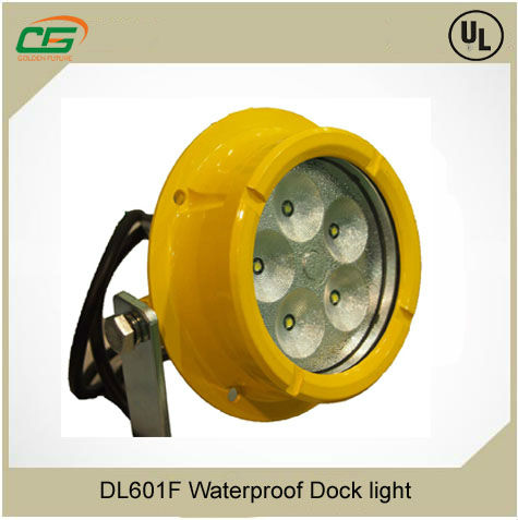 Waterproof and corrosion proof marine dock light