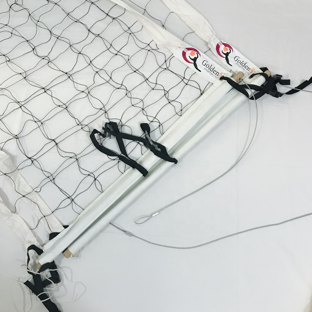 Draagbare PE Polyester Sport Strand Volleybal Netting Volleybal Training Netto