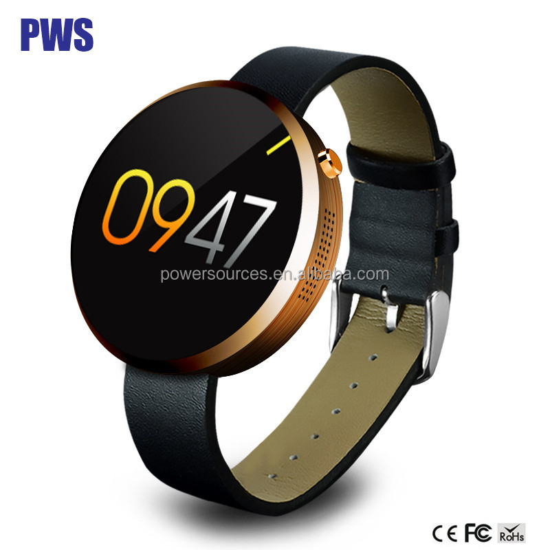 Round Bluetooth Smart Watch For Android iOS Heart Rate Monitor DM360