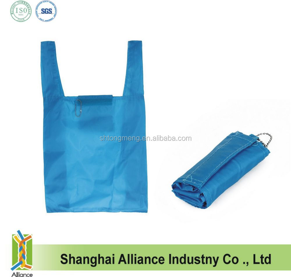 190T nylon foldable shopping bag with velcro(CF-178)
