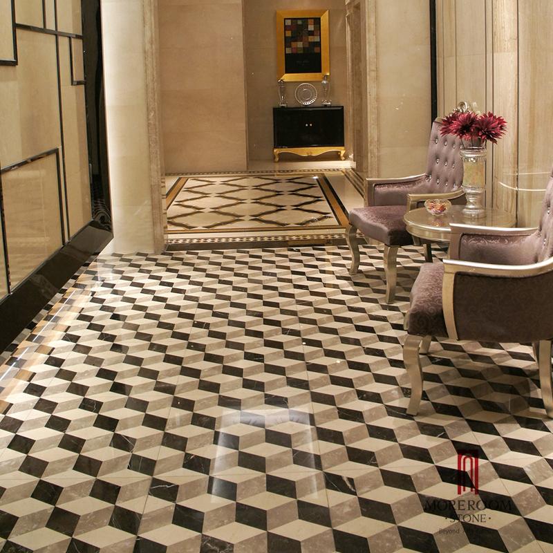 Azulejo de suelo de m rmol pulido 3d para el pasillo - Azulejos de marmol ...