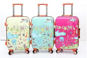 Charming Pattern Travel Pilot Luggage Trolley