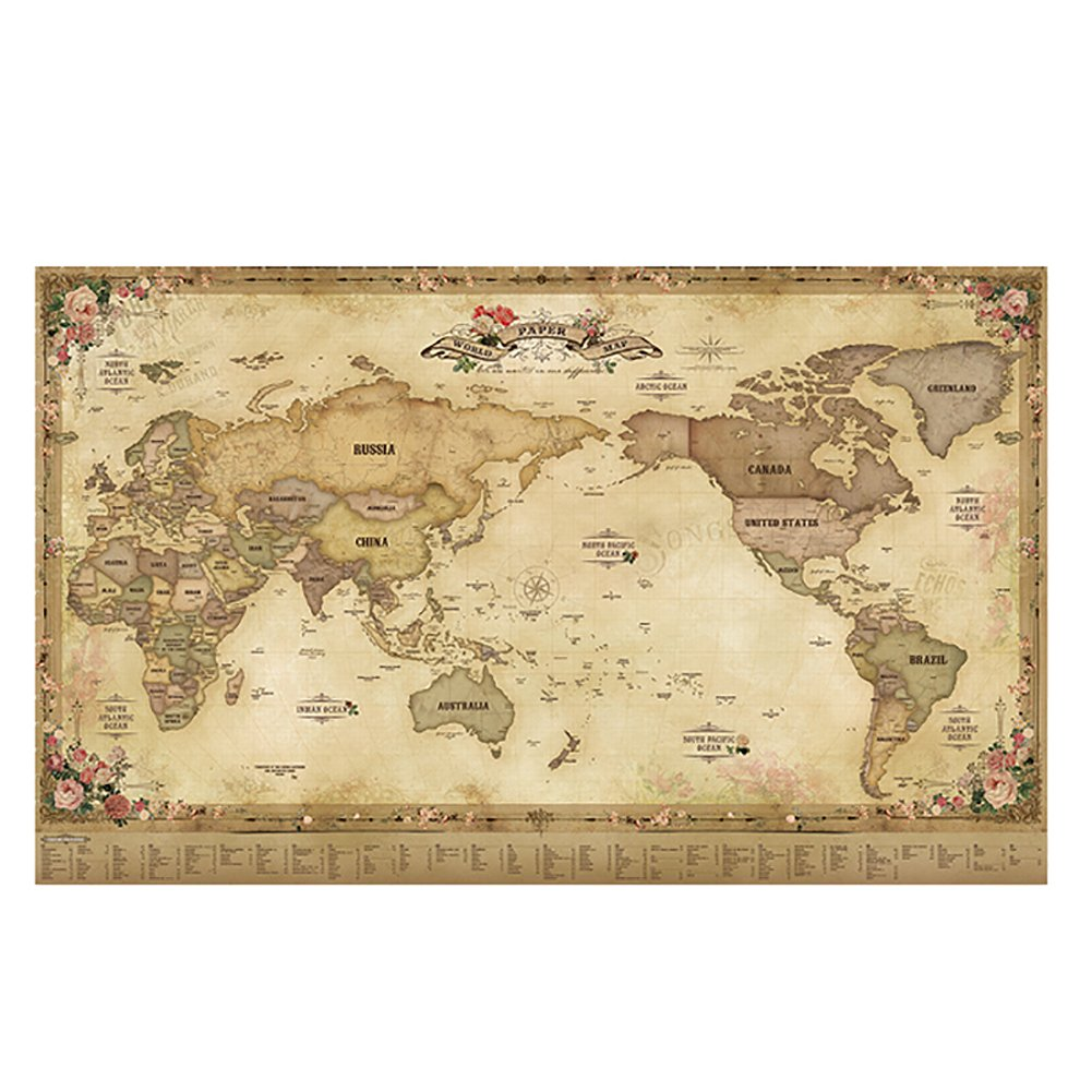 Buy unique and beautiful paper world map decorator national unique and beautiful paper world map decorator national geographic reference map antique publicscrutiny Images