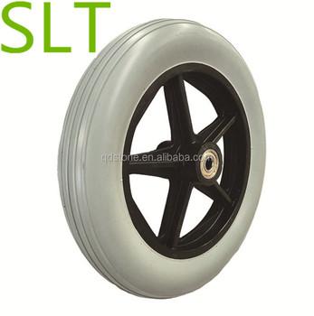ad07b6433ad 8 pulgadas de plástico borde pu ruedas de espuma para silla de ruedas con alta  calidad