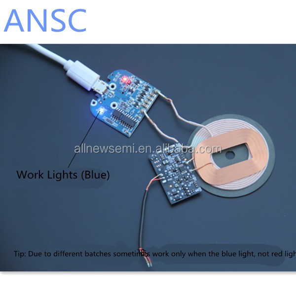 Wireless charger transmitter module PCBA board + coil qi