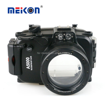Hotsale Meikon 40m/130ft underwater diving camera housing waterproof surfing camera case for sony a5000 diving equipment