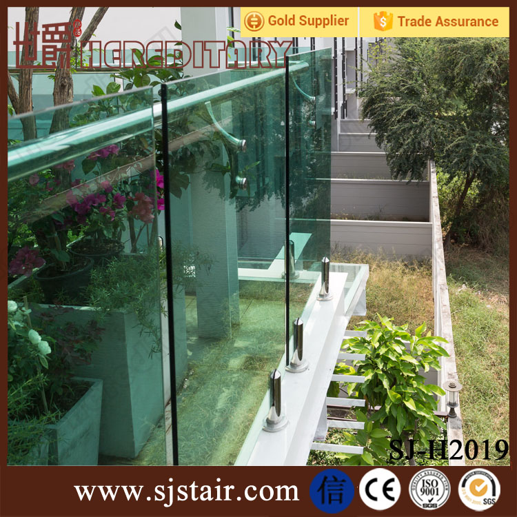 stainless steel outdoor balcony railing design/glass balcony system with low price