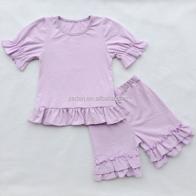 Cheap Clothes Kid Sunsuit Baby Boy Girl Lavender Clothing Set