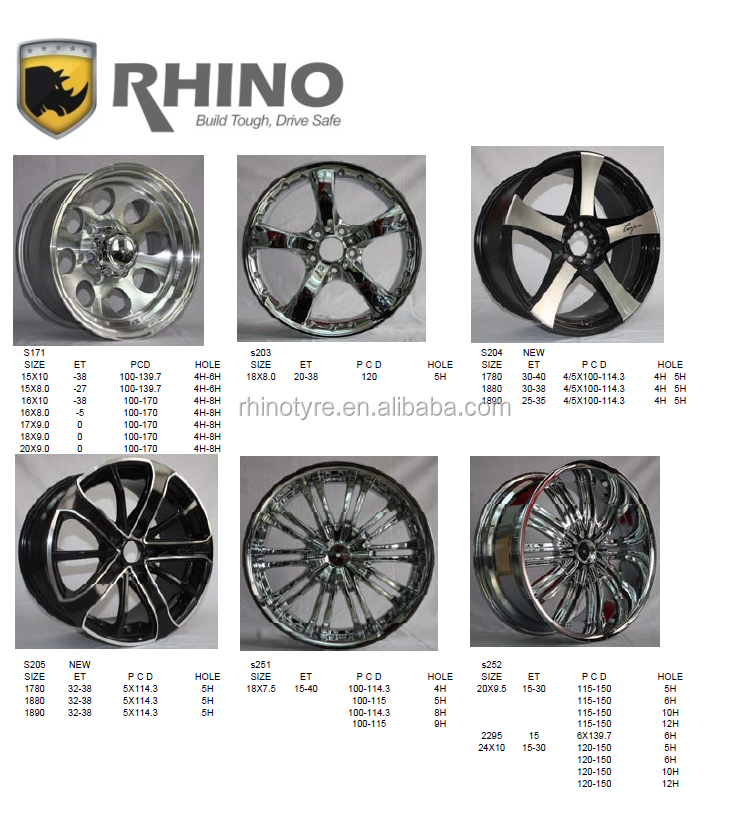 alloy wheels for car RHINO wheel rim
