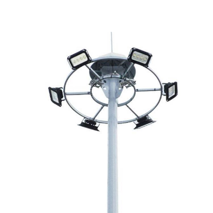 Polygonal stanchion light architectural hadco street lighting for high mast pole tower