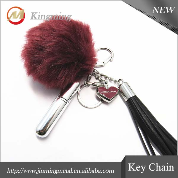 Pom Pom Rabbit Fur Ball Key Chain For Handbag