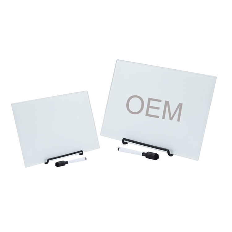 Metal Frame Removable Office Notice Tempered Glass Magnetic White Board Sizes