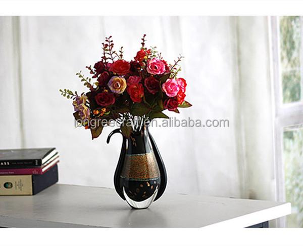 diferentes tipos de florero de cristal hecho a mano de cristal de murano florero creativo artculos