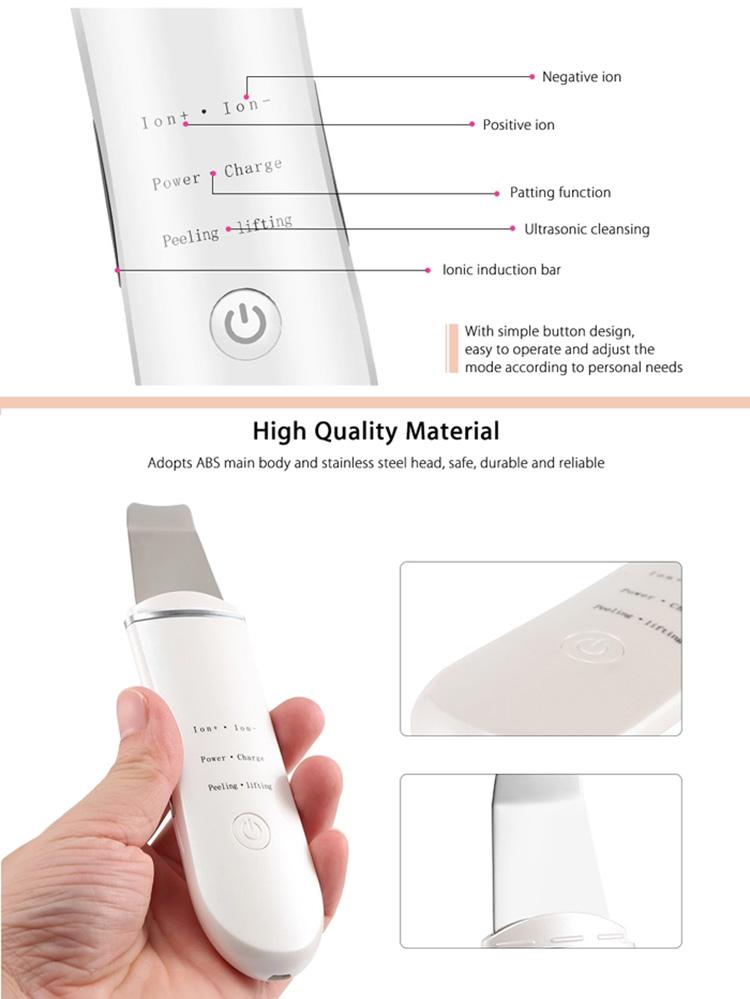 Amazon Bestseller 2019 Gezicht Scrub Microstroom Face Lift Machine Ultrasone Huid Scrubber