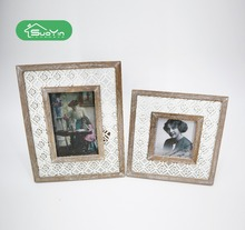 Elegant wholesale white/natural wooden standing girls cheap picture photo frames