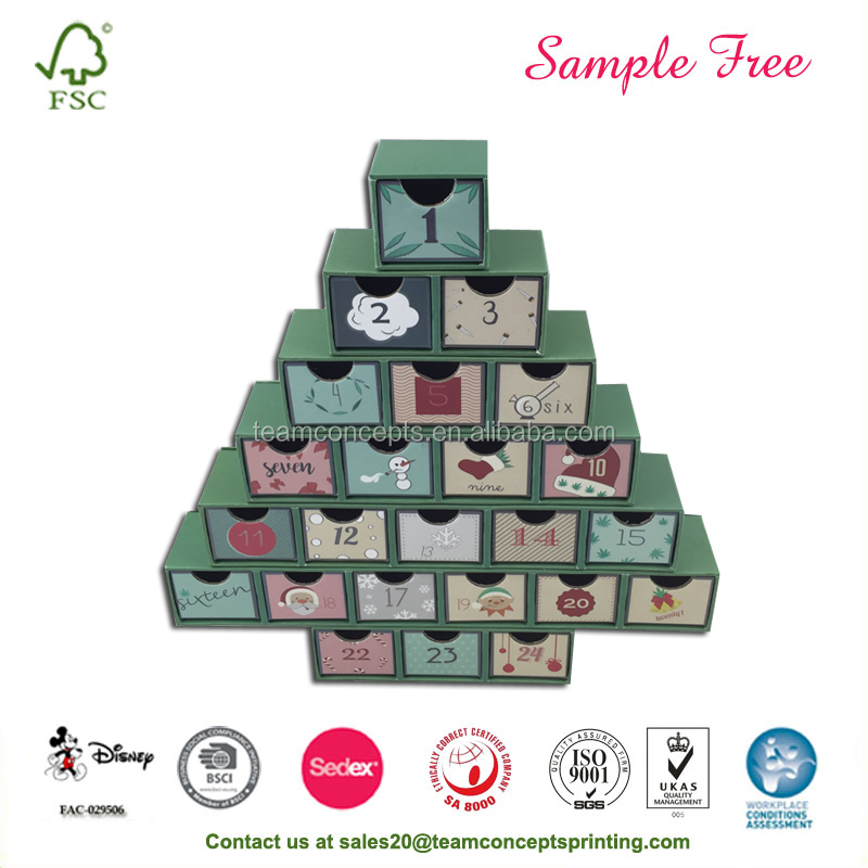 Lovely Baby Paper Cardboard Keepsake Boxes Like Chrismas Tree