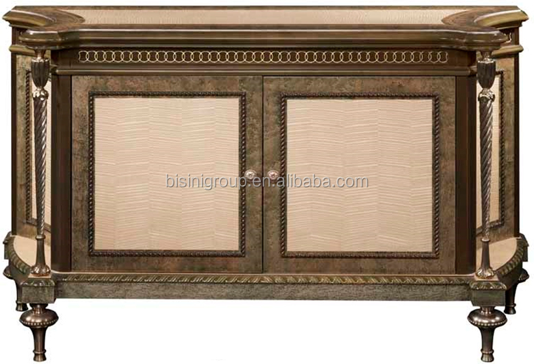 Elegant New Classical Solid Wood Tv Cabinet Of Venetian Gold And