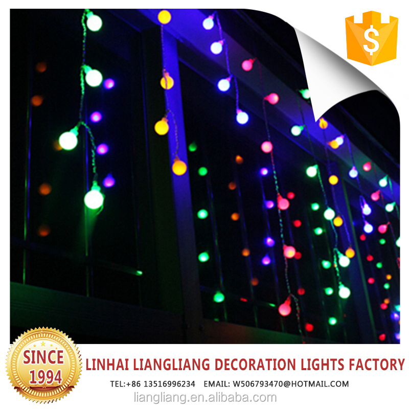 hot sale good quality small purple ball shape curtain LED waterfall light