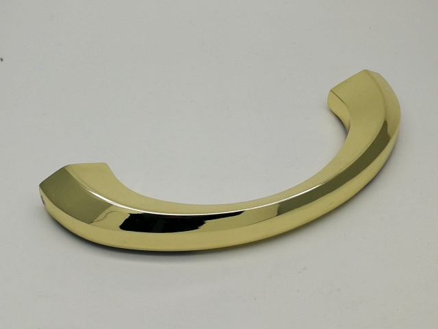 Half Moon coffin handle 1010-2 in gold plated and high polised
