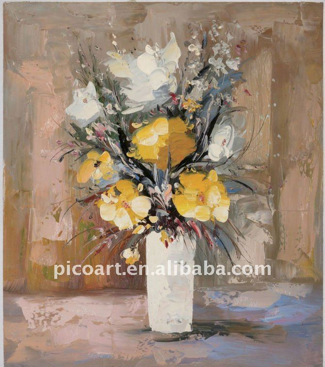High quality handmade abstract flower oil painting for decorative