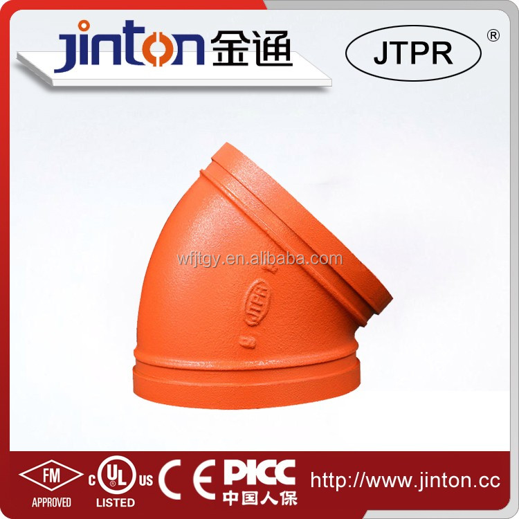 China made piping fittings 45 degree elbow all kinds of pipes and fittings