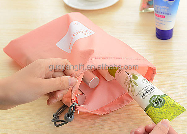 Waterproof Nylon Drawstring Bags / Duggy Bag / Cord Bag 4 Different Sizes Travel Use ,gym bag