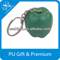 gift for advertisment pu stress pepper keychain chili pepper stress ball keychains pu pepper with keychain