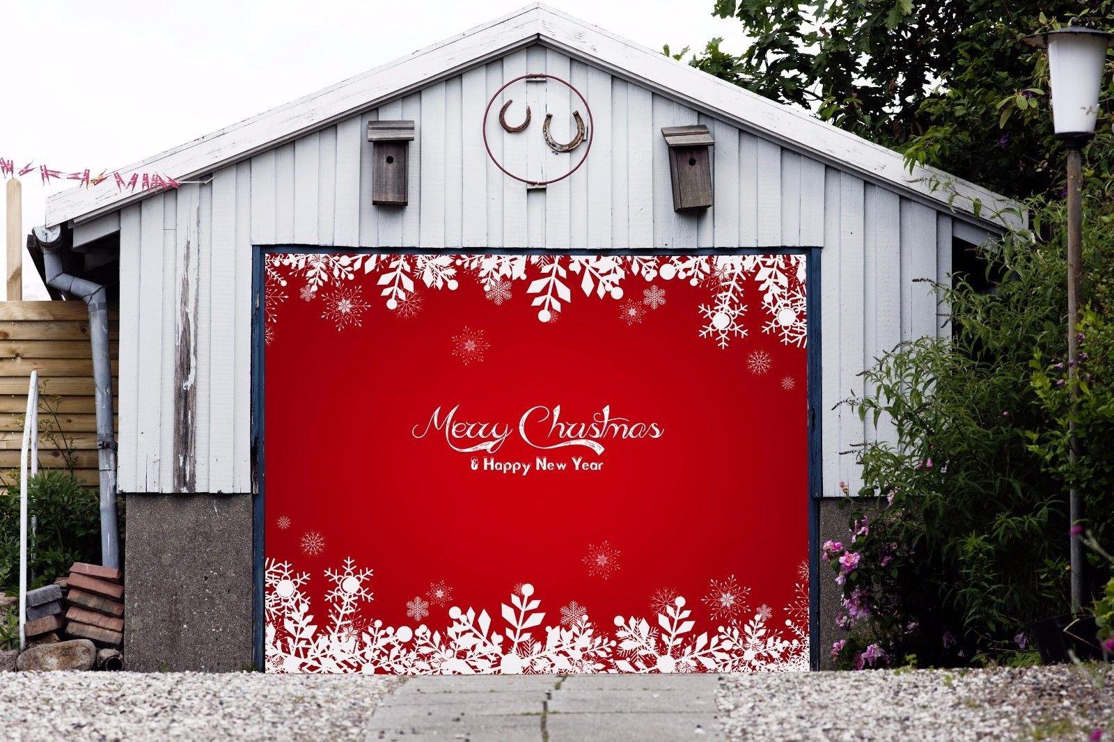 Christmas Door Covers.Buy Single Garage Door Covers Christmas Billboard