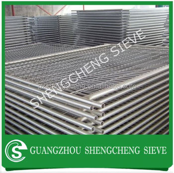Movable Temporary Welded Wire Mesh Fencing For Building Site Safety on