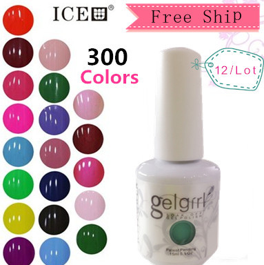 China Professional Supplies gel polish Pick 10colors 1 base coat 1 top coat in 300 color