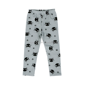 2018 Latest Wholesale Lovely Cats Printed Pants for Baby Girl Kids Boutique Leggings