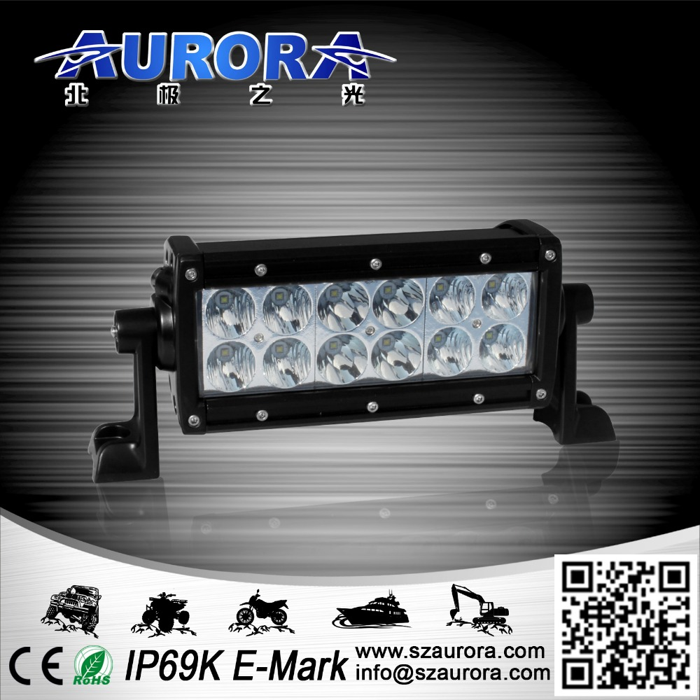6'' dual row led light,truck light bar led,36w, Lumen2604, high power led off road