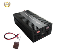 YANGBANG pure sine wave inverter USA standard socket for 1000w to 3000W with Double Led display dc 12v 24v to ac 110v