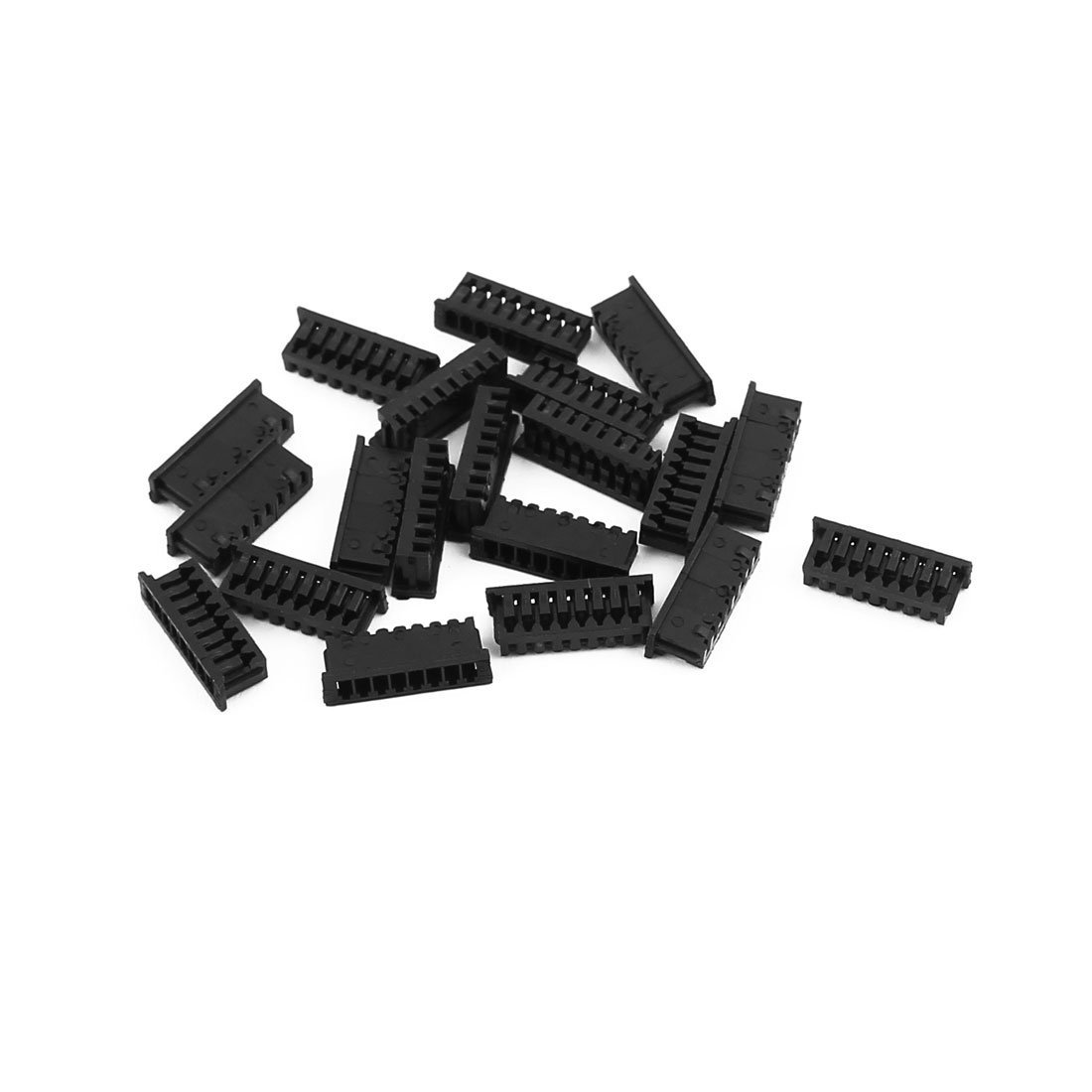 uxcell 20Pcs 1.25mm Pitch Single Row 8Terminals Y Style Socket Connector Plastic Shell Black