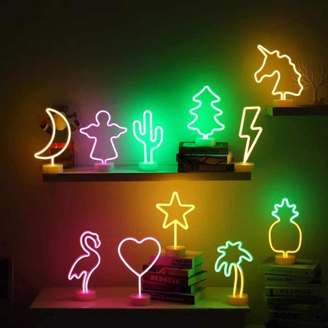 X mas Creative Kids Gift Light Decoration Home Sign Neon Tree Christmas LED Table Tree Neon LED