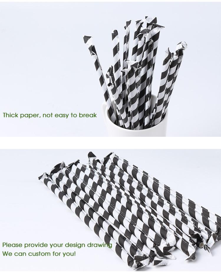 Di grado alimentare di spessore cannucce di carta potabile india logo