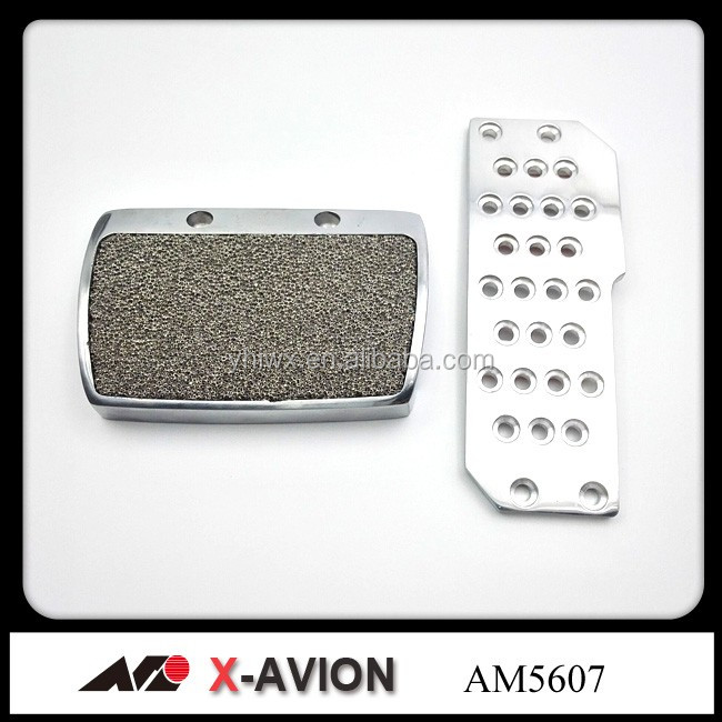 Aluminum silver pedal pad automatic
