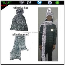 factory directly sale reflective yarn beanie knit hats / 3m reflective hats / luminescent hat caps