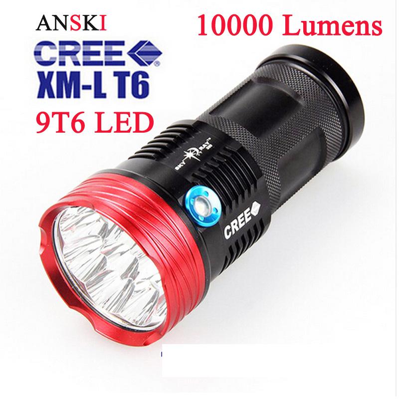 professional led flashlight cree xm l t6 strobe flash light high power 10000 lumens led lantern. Black Bedroom Furniture Sets. Home Design Ideas
