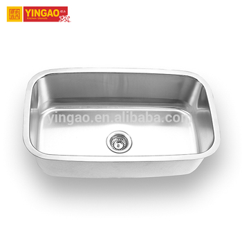 Factory directly stainless steel bar sink with draining board