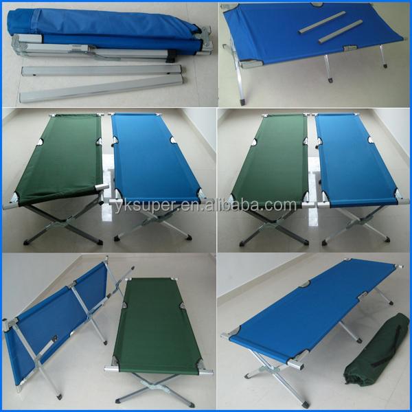 en plein air lit de camp pliant militaire camping lit avec 600d sac de transport lit en m tal id. Black Bedroom Furniture Sets. Home Design Ideas