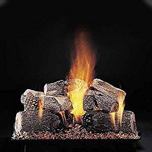 Rasmussen 30-inch Evening Lone Star See-thru Gas Log Set With Vented Custom Pan Burner