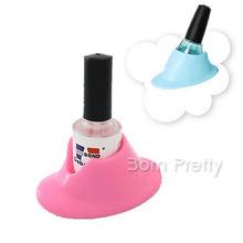1pc Nail Polish Easy Holder Nail Art Slanted Holder Tool Random Color 3471