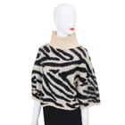 Fashion white and black leopard jacquard wool winter shawl