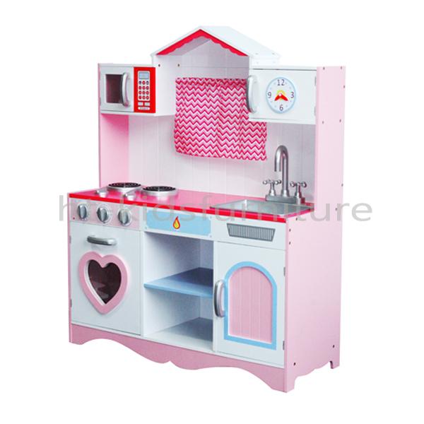 60x34x H 92 5cm 3 Years Above Mdf Kids Wooden Toy Kitchen Set With