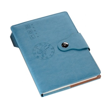 New design trend custom debossed logo a5 leather bound journal writing notebook with lock