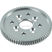 High precision aluminium main gear wheel, small aluminum toothed spur gear